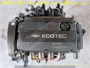 CHEVROLET F16D4 1.6L VVTI DOHC 16V Engine -CRUZE / AVEO