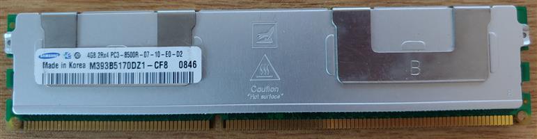 ecc server ram 4GB 12 sticks available R50 each