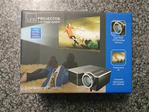 Mini LED Projector with LCD Image System - Black