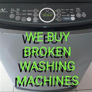 We Buy Broken Washing Machines
