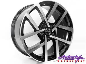 "18"" VW R-Performance2 5/112 BKMF Alloy Wheels - 5/112pcd"