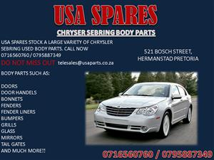 CHRYSLER SEBRING BODY PARTS FOR SALE- CALL NOW