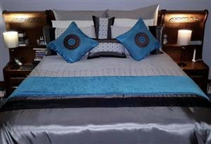 Double bed and headboard for sale