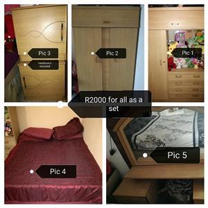 Complete wooden bedroom set