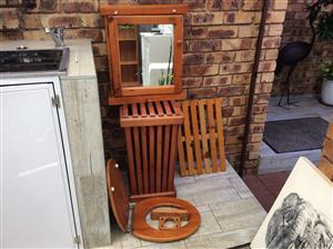 Solid wood bathroom set