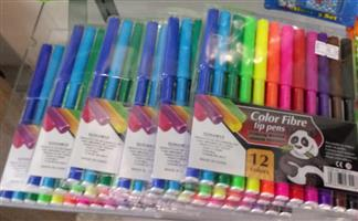 12 COLOURING PENS