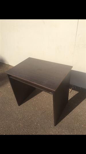 Dark wooden computer desk for sale