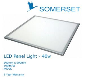 Somerset LED Panel Light 600 x 600 40w