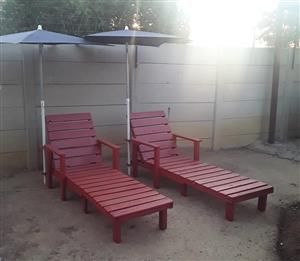 Gardern pool chairs
