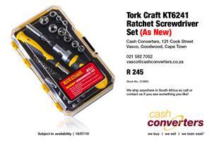 Tork Craft KT6241 Ratchet Screwdriver Set (As New)