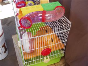 Hamster cage with all accessories - complete - as New