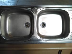 Steel dual wash basins