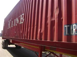 Used 40 foot storage container.