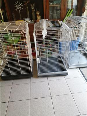 Parrot cages and toys