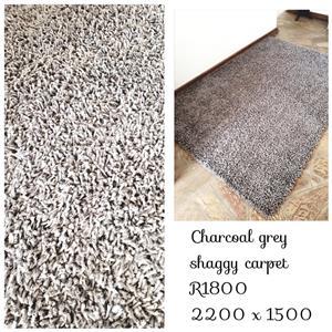 Charcoal Grey Shaggy Carpet
