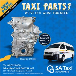 NEW 2TR Timing Cover with Water / Oil Pump suitable for Toyota Quantum - SA Taxi Auto Parts quality spares