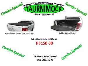 TAURNIMOCK WESTERN CAPE SUPPLIES AND FITS ROLLBARS, NUDGE BARS, SIDE STEPS, TONNEAU COVERS AND NOW OFFERS RHINO LININGS RUBBERISING