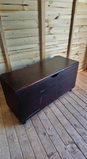 Antique dark wooden chest for sale