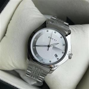 Brand New Original Gucci Unisex Swiss G-Timeless Diamond Accent Stainless Steel Bracelet Watch 38mm YA126404
