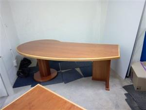 solid wood large office desk