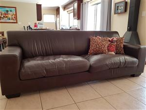 Full leather coricraft 4 seater couch