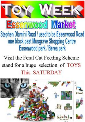 Toy week is this Saturday . Essenwood market