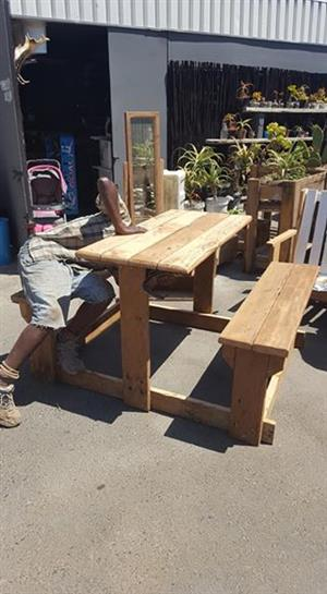 Wooden garden bench table for sale