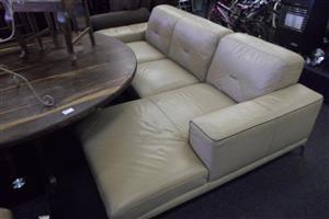 Leather L-Shape Lounge Suite