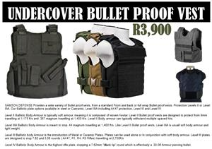 Level lllA balistic body armour