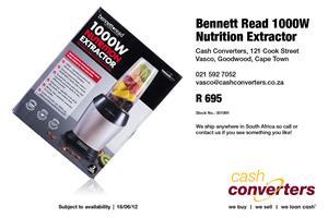 Bennett Read 1000W Nutrition Extractor