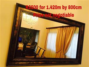 Large copper framed mirror for sale
