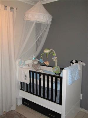 Baby furniture (cot & compactum & wardrobe)