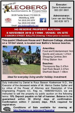 No Reserve Property Auction - 8 November 2019 - Ballito, KZN
