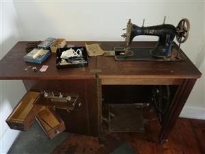 Pfaff Vintage /Antique sewing machine, with storage cabinet and extras