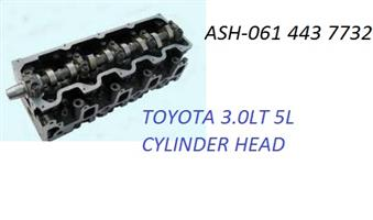 BRAND NEW TOYOTA HILUX 5L 3.0 BARE AND COMPLETE CYLINDER HEADS