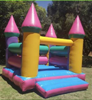 3 x 3 Pink Multi coloured jumping castle for sale (no blower)