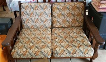 7 seater solid imbuia lounge suite