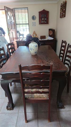Dinning room set with Hall stand