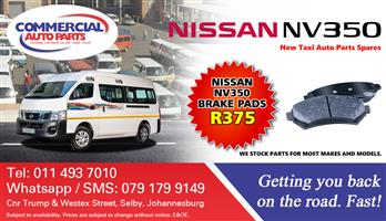 Brake Pads For Nissan NV350 Impendulo For Sale.
