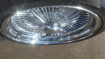 17 inch 100 Spoke rims with tyres