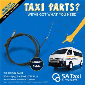 Bonnet Cable suitable for Toyota Quantum - SA Taxi Auto Parts quality used spares