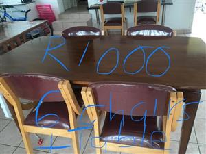6 Seater wooden dining set for sale