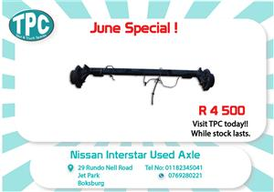 Nissan Interstar Used Axle for Sale at TPC