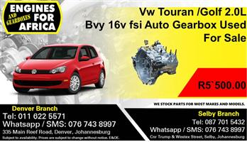 Vw Touran /Golf 2.0L Bvy 16v fsi Auto Gearbox Used For Sale