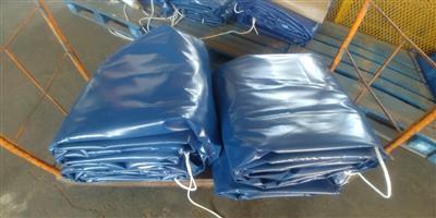 9m x 9m heavy duty tarpaulins & cargo nets