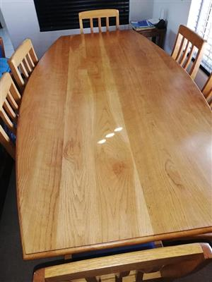 Solid Eike Wood Dining Set