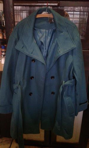 Ladies Jacket Turquoise Donatella Size 48
