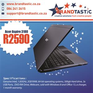 Acer Aspire 3180 Laptop & Charger @ R2590