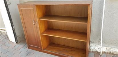 Bookshelf with Lockable Door