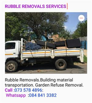 !!!! RUBBLE REMOVAL,, WASTE REMOVAL &  MANY MORE TRANSPORTATION  SERVICES WE HAVE 4 TON TRUCKS FOR HIRE ....CALL :073 578 4896: